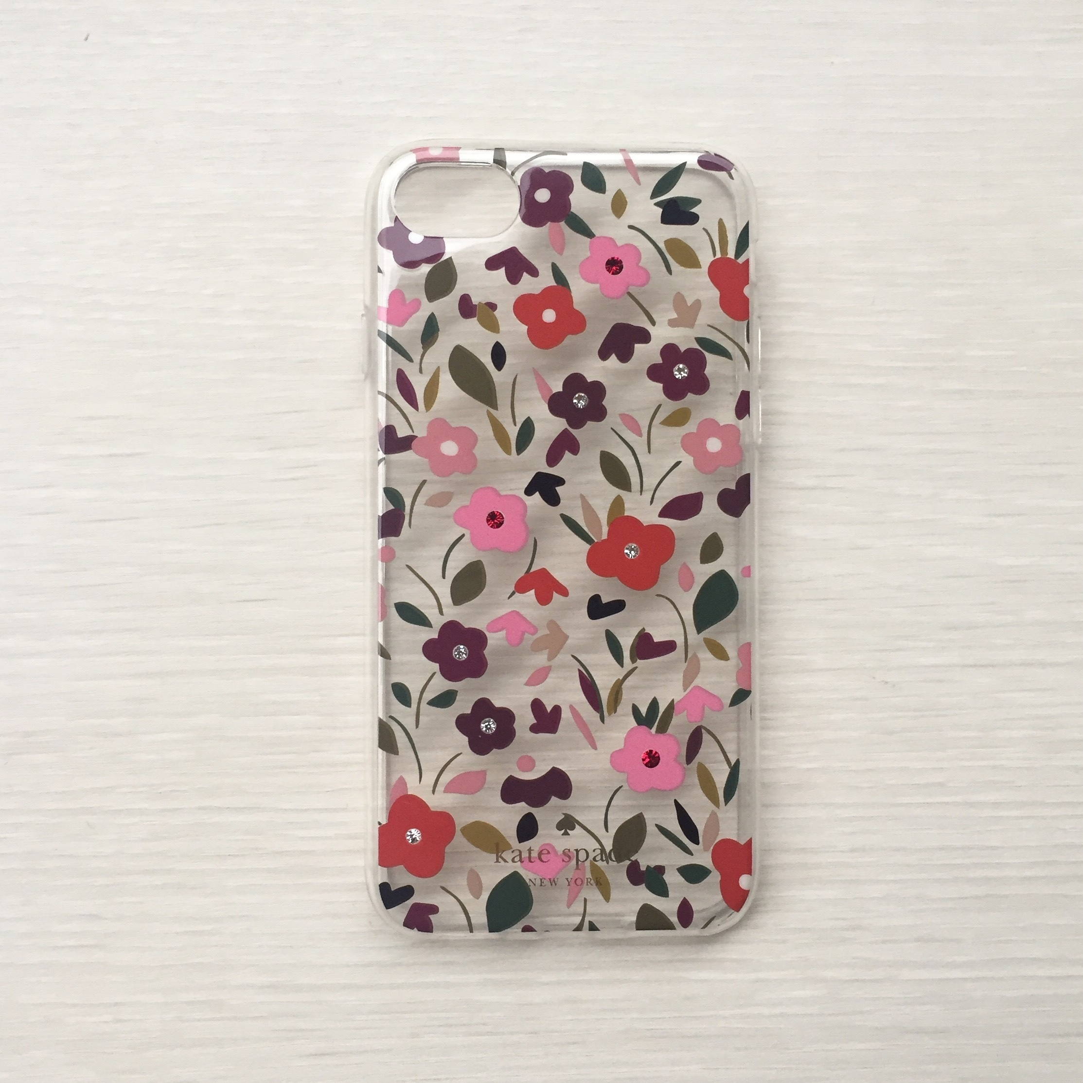 kate spade Jeweled Boho Floral Clear iPhone 7 Case