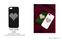 最新iPhoneにハート★超人気!ENLA HEART STUDDED LEATHER CASE