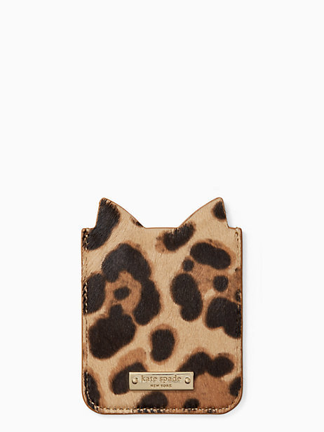 【SALE】kate spade☆iphone ヒョウ柄ステッカーポケット☆