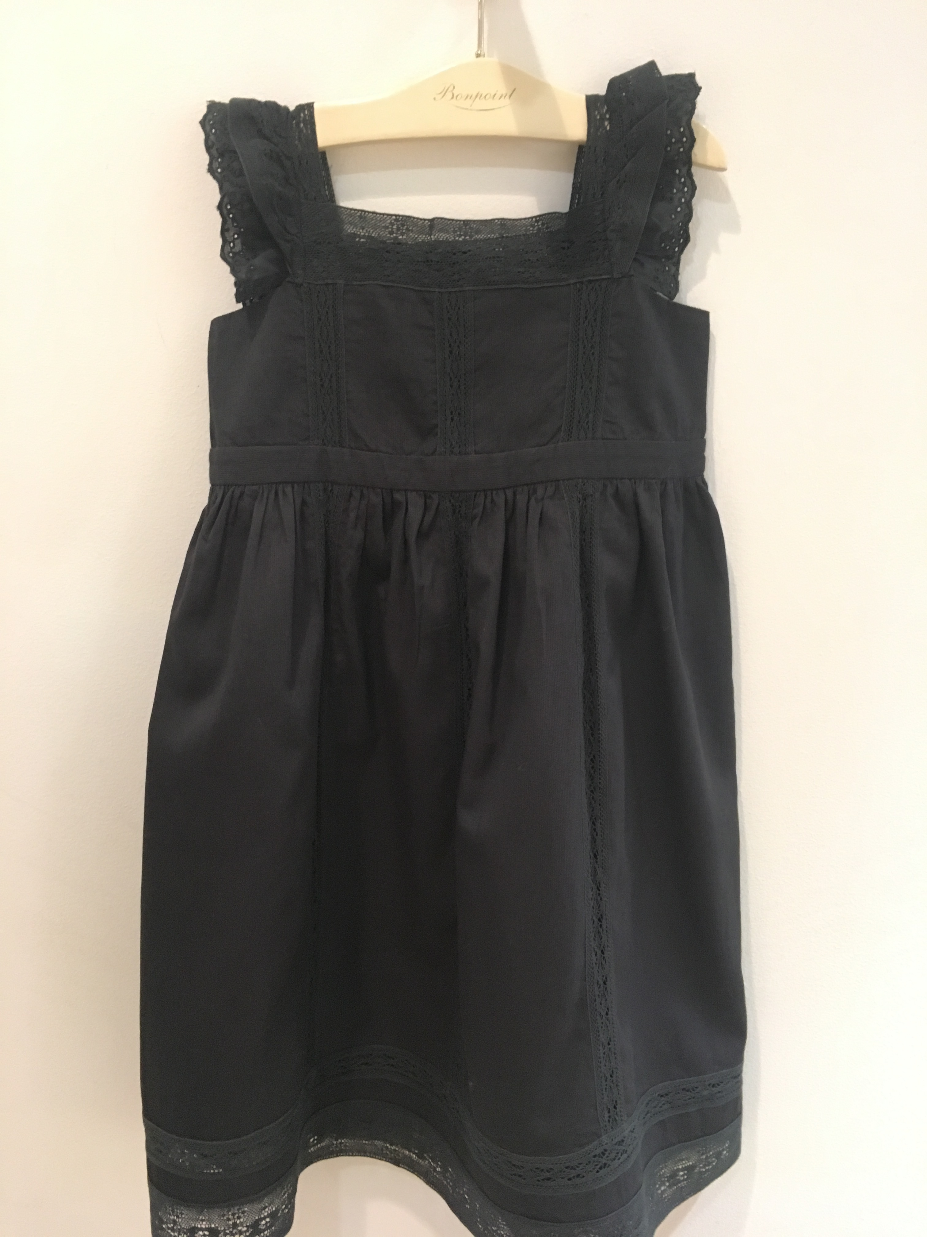 SS18 BONPOINT☆FILLE ワンピースGIGI BLK3.4A