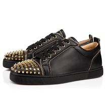 安心送料関税込! Christian Louboutin, Junior Zip Spikes Calf