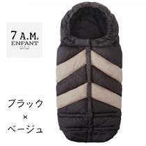 7AM ENFANT/BLANKET Chevron ベビーカーフットマフ Black/Beige