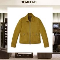 【18SS NEW】 TOM FORD_men /CASHMERE NUBUCKブルゾンGN