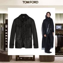 【18SS NEW】 TOM FORD_men /LEATHER MILITARYジャケットBK