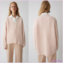 【17aw NEW】Acne_women/Deborah l-wool light pink/ニットPK