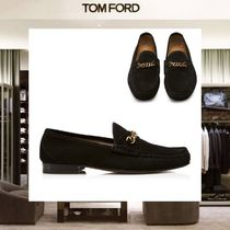 【18SS NEW】 TOM FORD_men /SUEDE YORK CHAINローファーBK