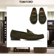【18SS NEW】 TOM FORD_men /SUEDE YORK CHAINローファーGN