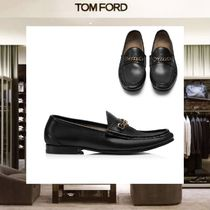【18SS NEW】 TOM FORD_men /LEATHER YORK CHAIN ローファーBK