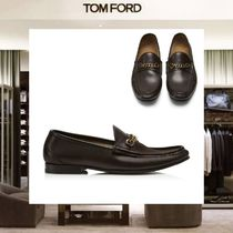 【18SS NEW】 TOM FORD_men /LEATHER YORK CHAIN ローファーBR