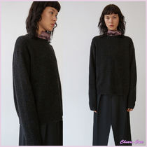 【17aw NEW】Acne_women/Samara wool black mix/ウールニットBK