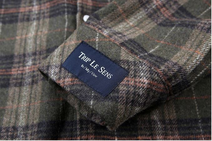 日本未入荷TRIP LE SENSのHoliday Wool Check Shirts
