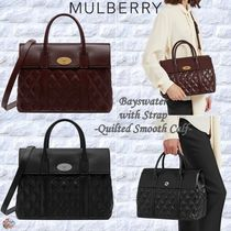 Mulberry☆Bayswater with Strap-Quilted Smooth Calf-