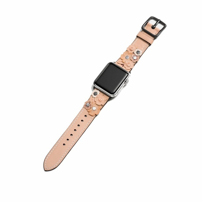 Coach Strap With Tea Rose Apple Watch バンド