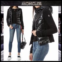 【MONCLER】17AW GRENOBLE 異素材MIX フードジップアップBLK/EMS
