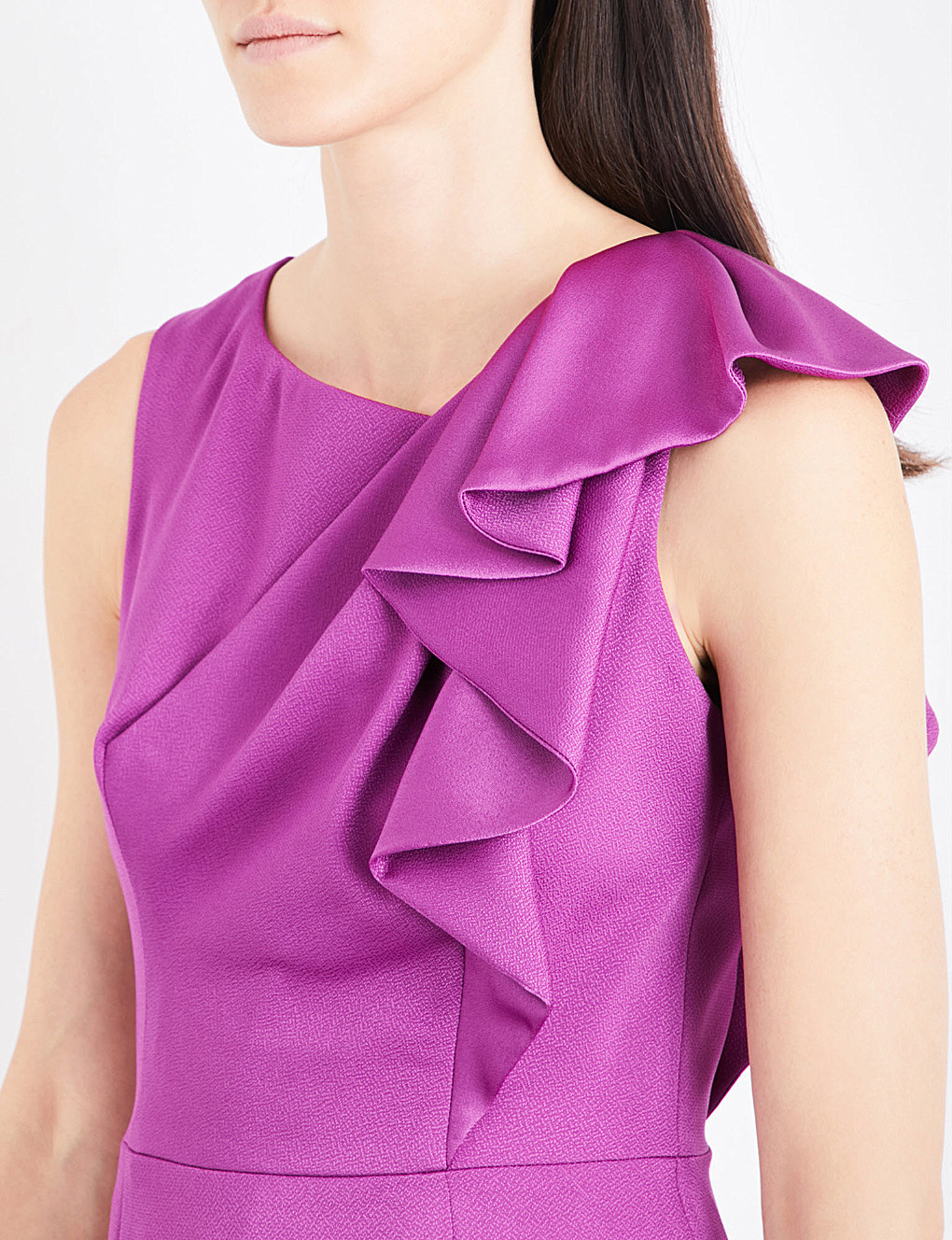 【海外限定】Karen Millen ドレス☆Ruffled charmeause dress