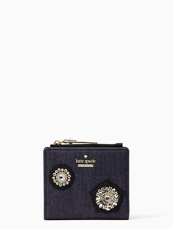 Kate Spade cameron street embellished denim adalynデニム財布