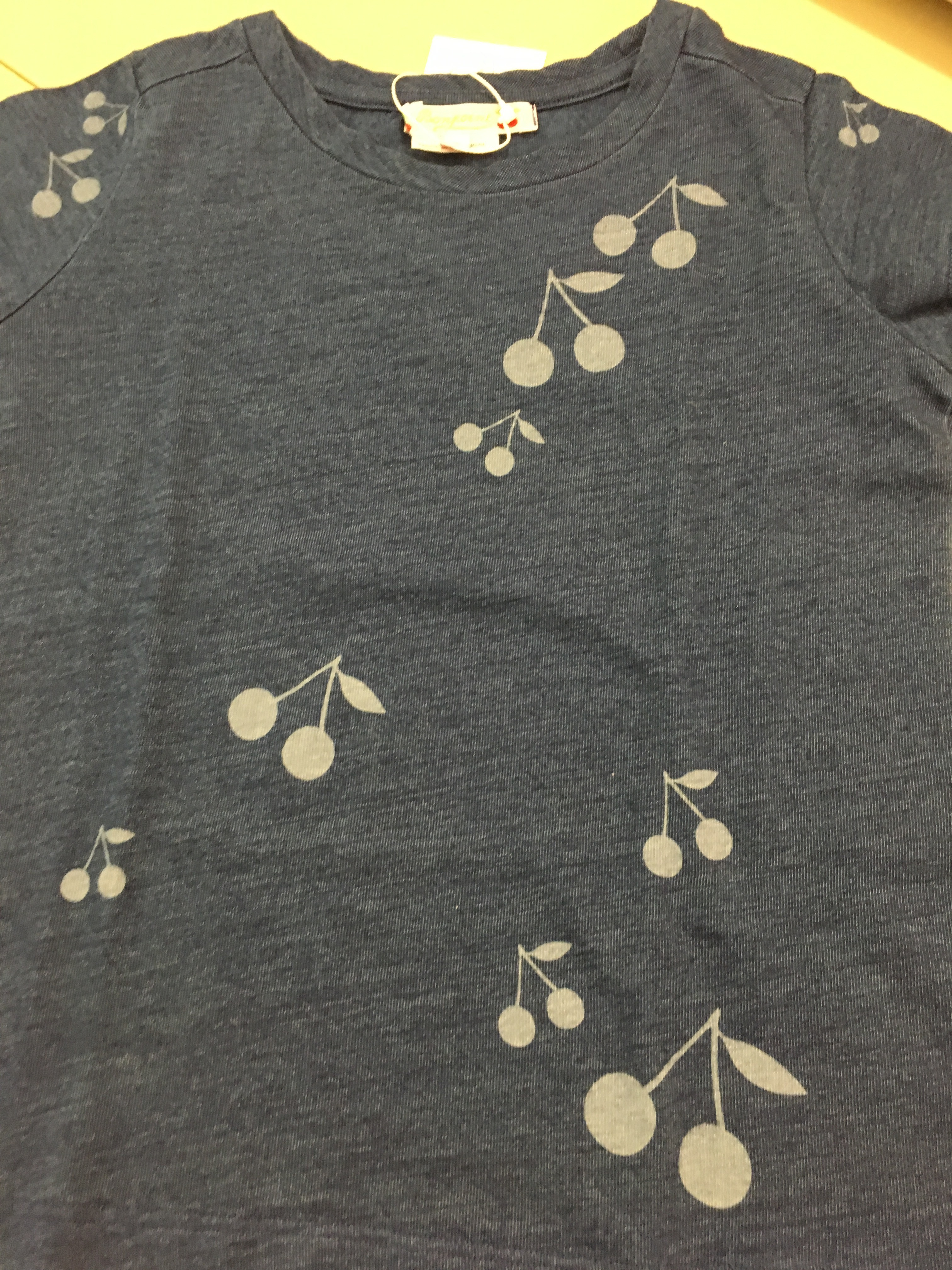 SS18 BONPOINT☆FILLE TシャツチェリーENCRE3.4.6A