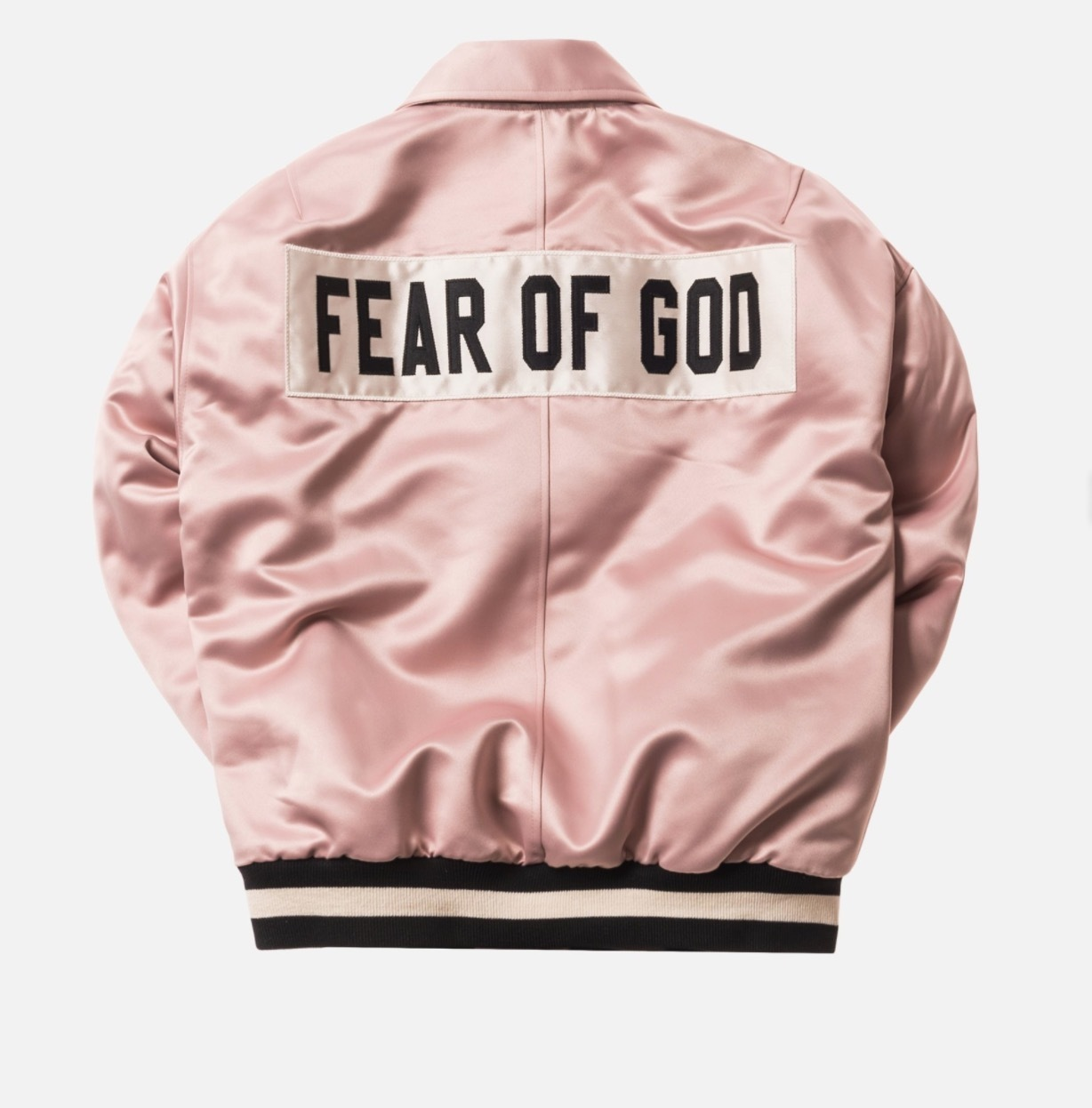 FEAR OF GOD 5THCOLLECTION SATIN BASEBALL COACHES JACKET
