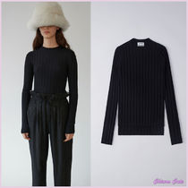 【17aw NEW】Acne_women/Carin merino black/ウールニットBK