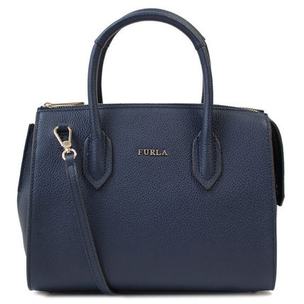 FURLA トートバッグ FURLA トートバッグ 2WAY PIN S SATCHEL 924707 BMN1 BLU