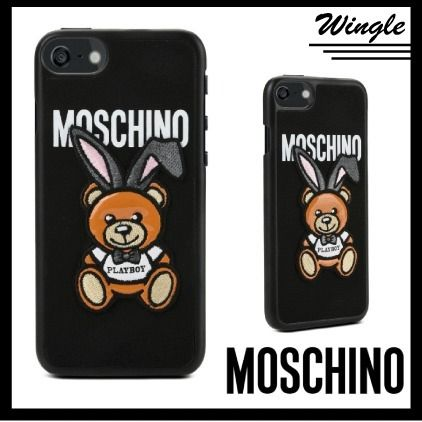 18SS■Moschino■iPhone 7/7Plus case/ Playboyテディ【送関込】