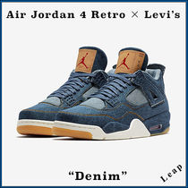 "【Nike】入手困難コラボ Levi's × Air Jordan 4 Retro ""Denim"""