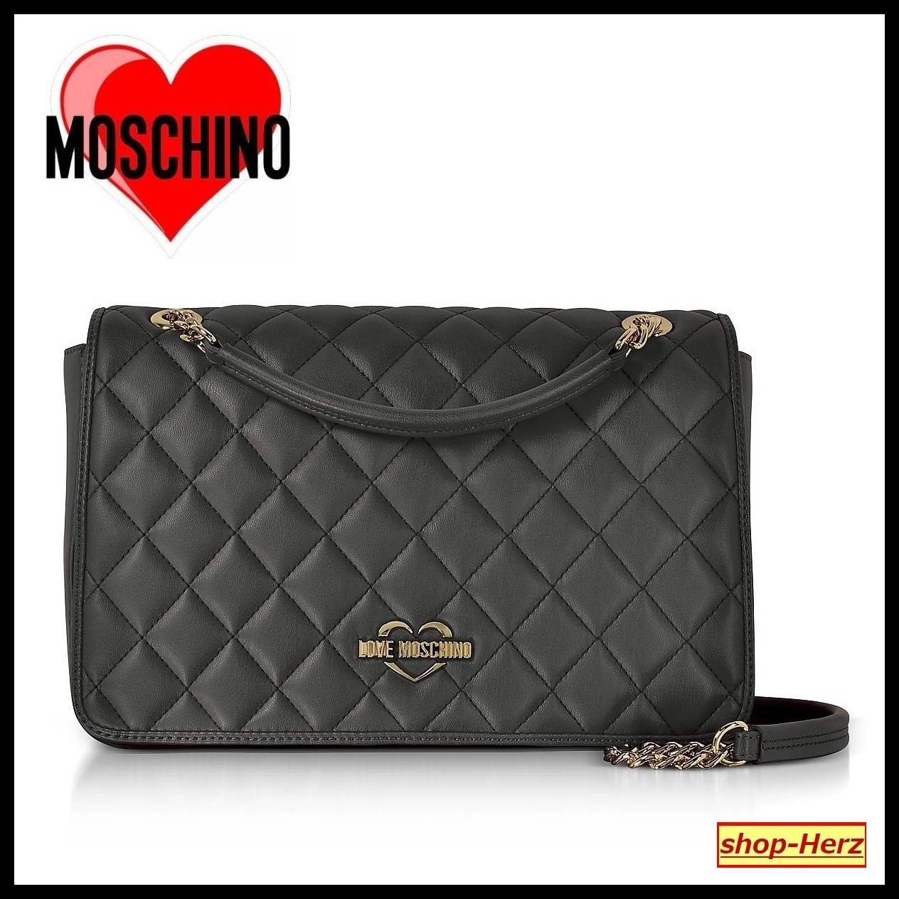 ★Love Moschino★ Black Superquilted ショルダーバッグ 関税込