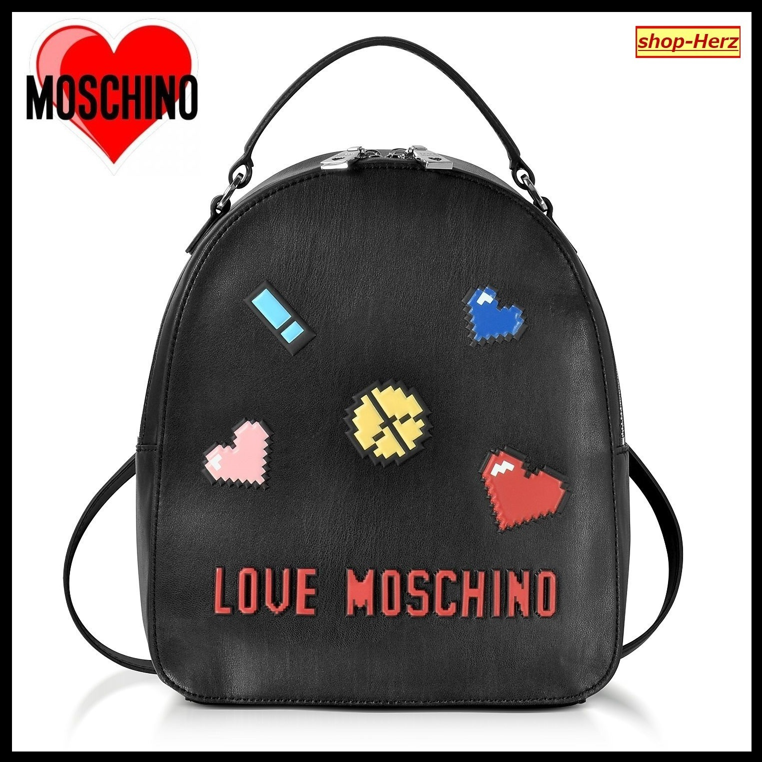 ★Love Moschino★ Love Pixel Black Small バックパック 関税込