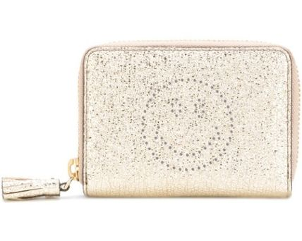 SALE!☆Anya Hindmarch☆Smiley Small Zip-Around Wallet Gold