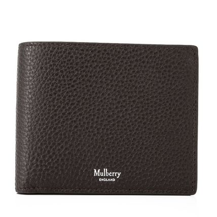 Mulberry 折りたたみ財布 Mulberry 18SS Grain Leather 小銭入れ付き 折り財布_Chocolate