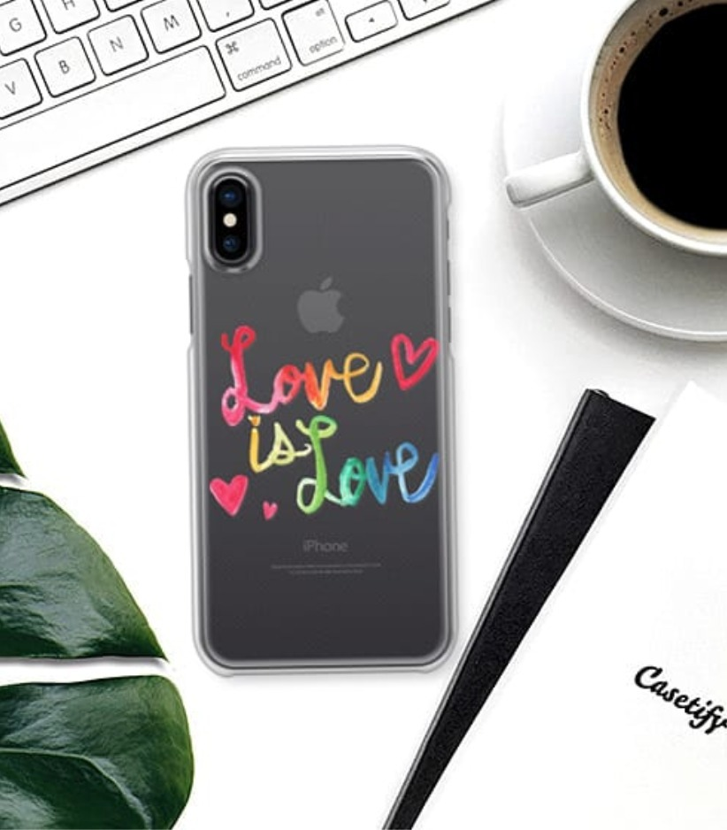 送関込★Casetify★Love is Love★iphoneケース