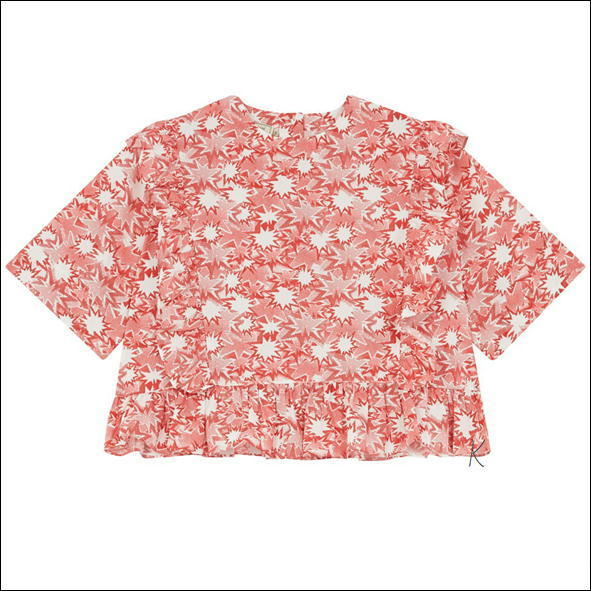 【国内送】メゾンキツネ★ALL OVER PIXEL VICTORIA FLOUNCED TOP