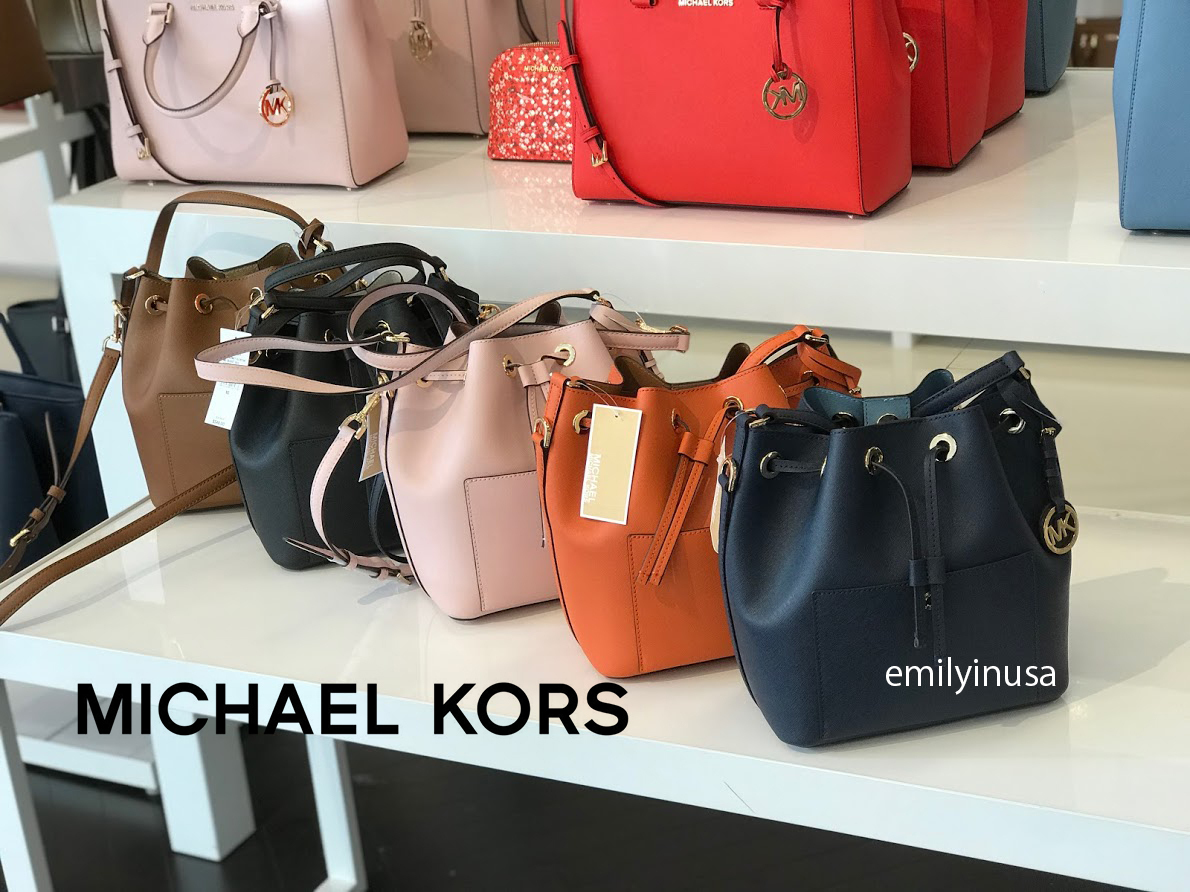 Michael Kors★春新作 GREENWICH MD BUCKET BAG 茶巾型
