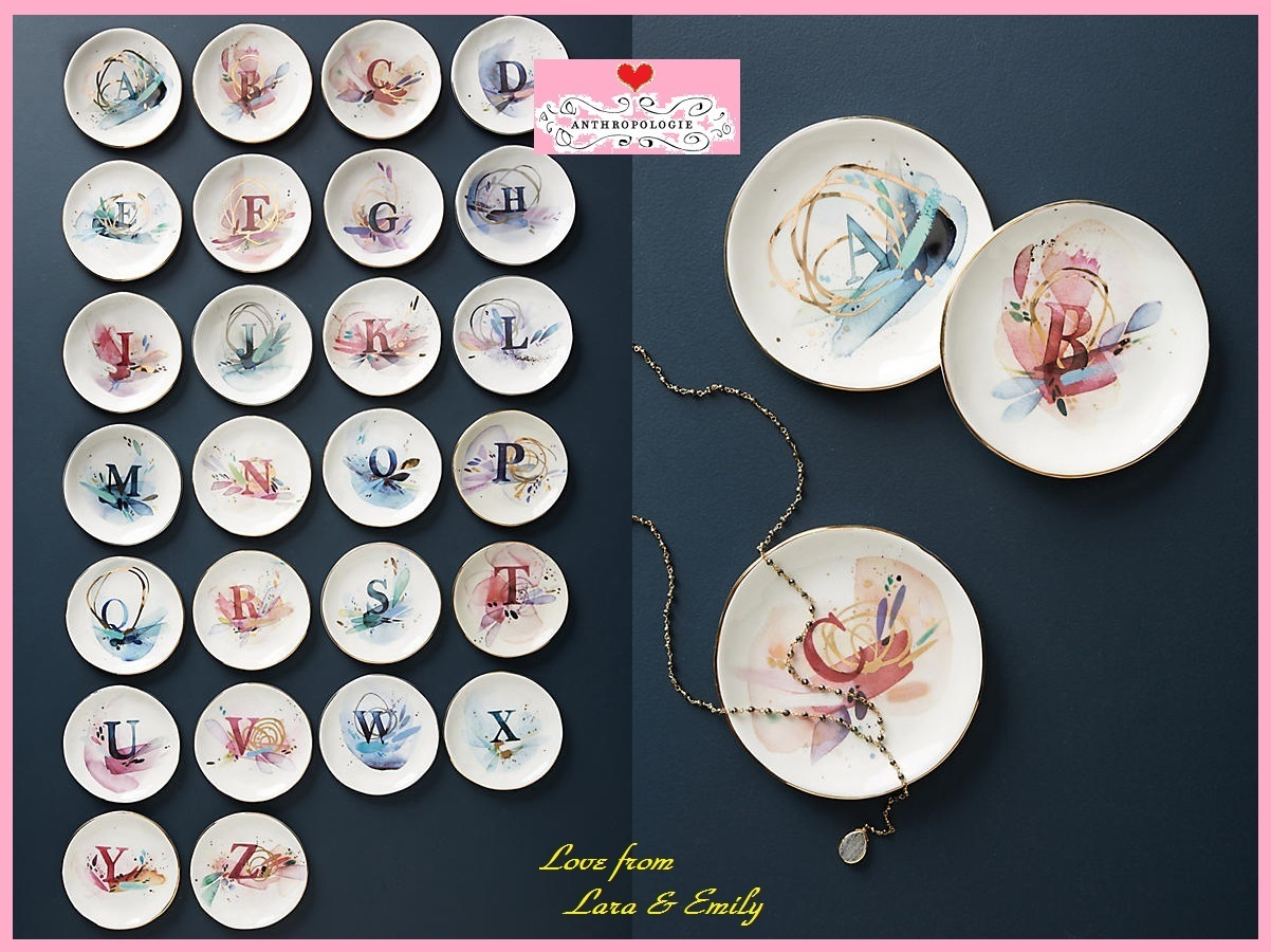 18SS☆最安値保証*関送料込【Anthro】Monogram Trinket Dish