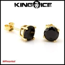 ★King Ice Round Brilliant CZ Stud 【関税送料込】