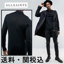 Allsaints Knitted 長袖 ポロ シャツ In メリノウール