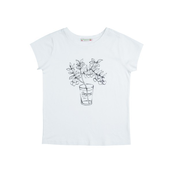 SS18 BONPOINT☆FILLE Tシャツ PLANTS3.4.6A