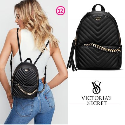 Victoria's Secret バックパック・リュック 2018 NEW! 最新作★ Super COOL Pebbled V-Quilt Small Backpack(18)