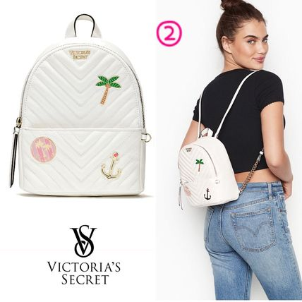 Victoria's Secret バックパック・リュック 2018 NEW! 最新作★ Super COOL Pebbled V-Quilt Small Backpack(8)
