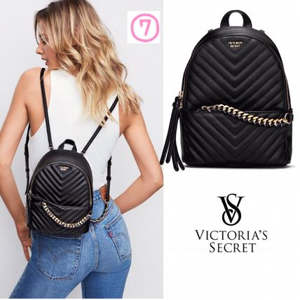 Victoria's Secret バックパック・リュック 2018 NEW! 最新作★ Super COOL Pebbled V-Quilt Small Backpack(10)
