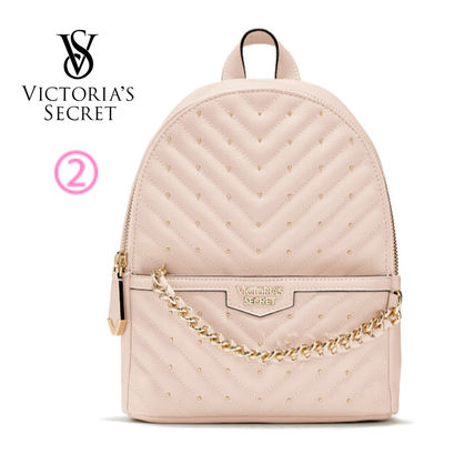 Victoria's Secret バックパック・リュック 2018 NEW! 最新作★ Super COOL Pebbled V-Quilt Small Backpack(5)