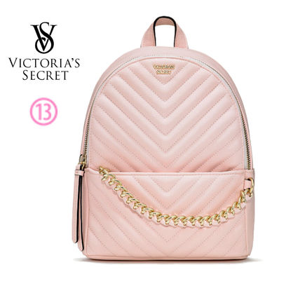 Victoria's Secret バックパック・リュック 2018 NEW! 最新作★ Super COOL Pebbled V-Quilt Small Backpack(16)