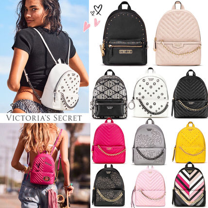 Victoria's Secret バックパック・リュック 2018 NEW! 最新作★ Super COOL Pebbled V-Quilt Small Backpack
