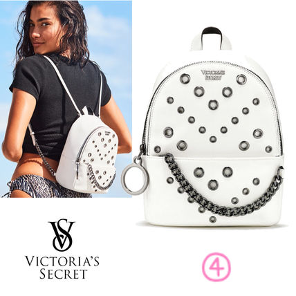 Victoria's Secret バックパック・リュック 2018 NEW! 最新作★ Super COOL Pebbled V-Quilt Small Backpack(7)
