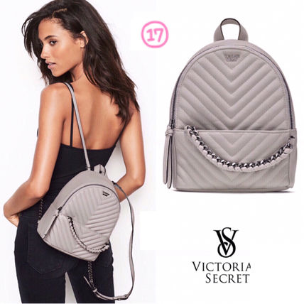 Victoria's Secret バックパック・リュック 2018 NEW! 最新作★ Super COOL Pebbled V-Quilt Small Backpack(19)