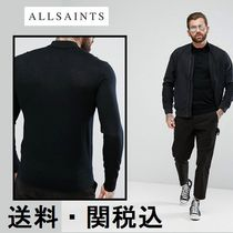 AllSaints Knitted ポロシャツ In 100% メリノウール