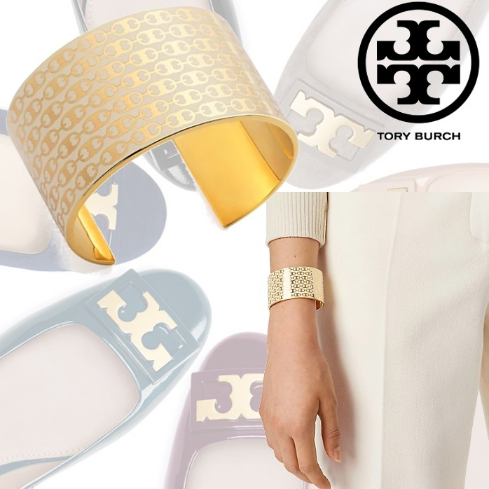 新作SALE★Tory Burch GEMINI LINK WIDE CUFF Tロゴブレスレット