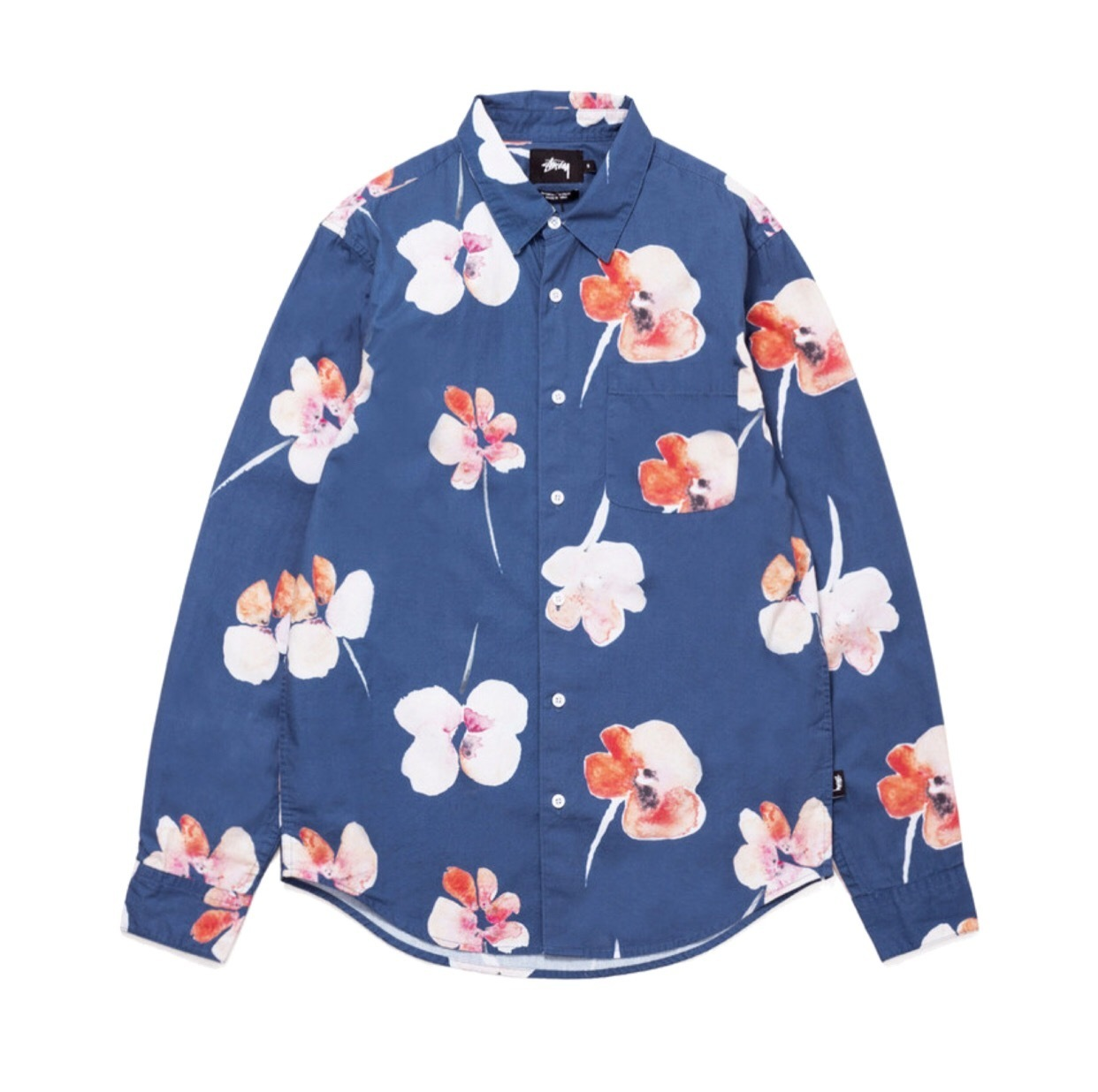【国内在庫】STUSSY/WATER COLOR POPPY SHIRT