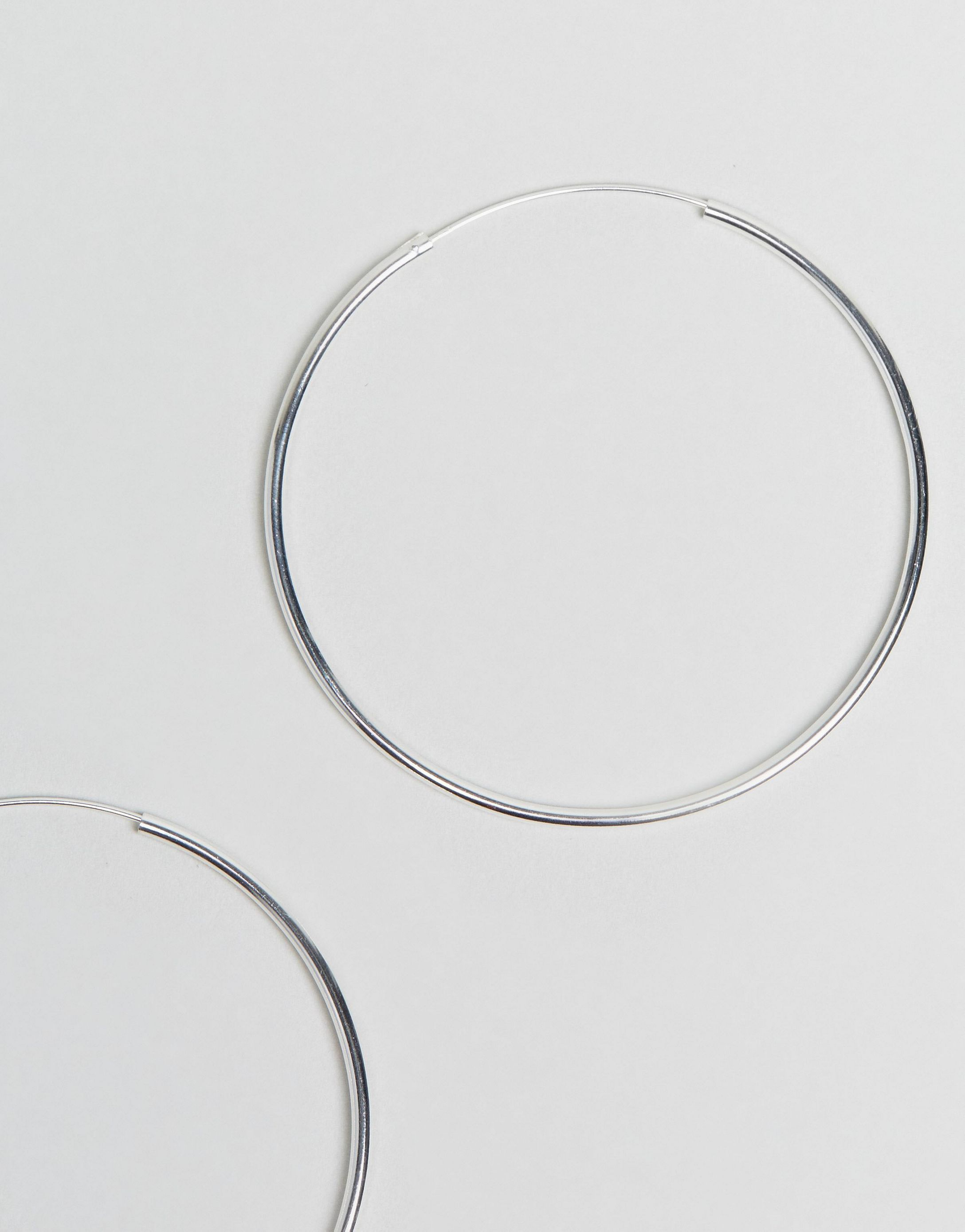 ★ASOS★ Sterling シルバー 60mm Hoop Earrings