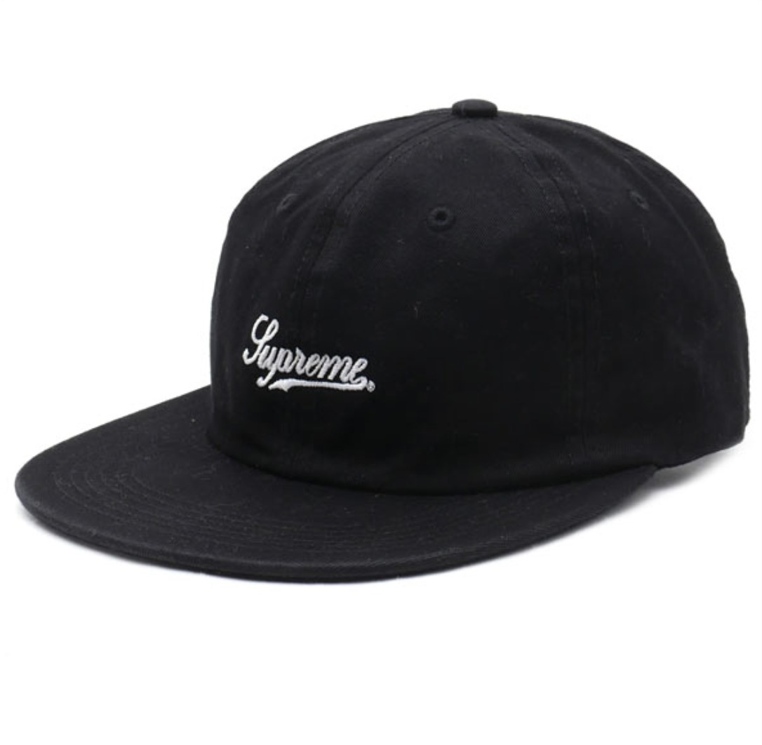 [17A/W] 国内発送 Supreme  Script Logo Fitted 6-Panel